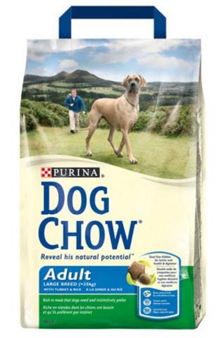 Dog Chow Для взрослых собак крупных пород с индейкой (adult Large Breed) 14 кг