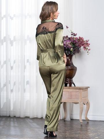 Комплект домашний с брюками Mia-Amore OLIVIA ОЛИВИЯ 3646 оливка