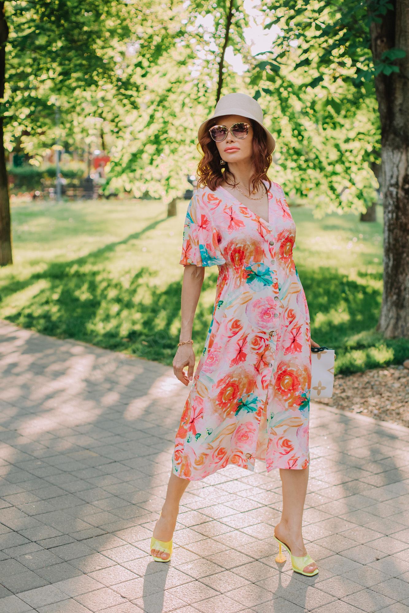 Платье летнее принт