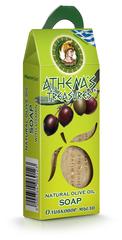 Натуральное оливковое мыло в подарочной упаковке Athena's treasures 100 гр