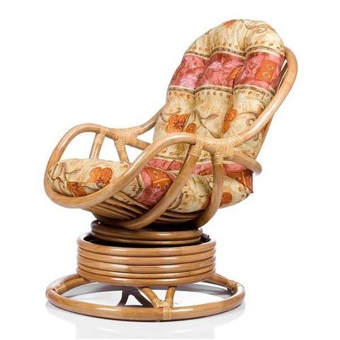 Кресло-качалка KARA (004.002) с подушкой золотой мед