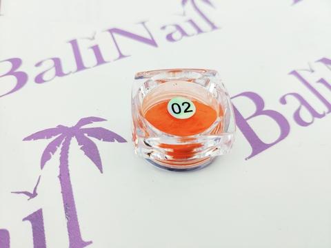 Термо-пигмент для дизайна ногтей (оранжевый) #02