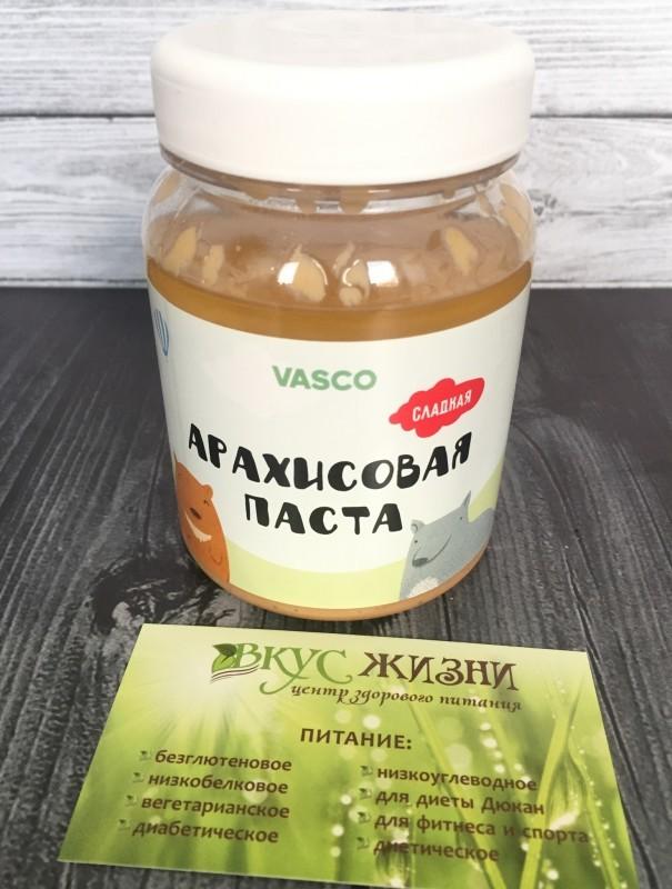 Сладкая арахисовая паста Vasco 320г