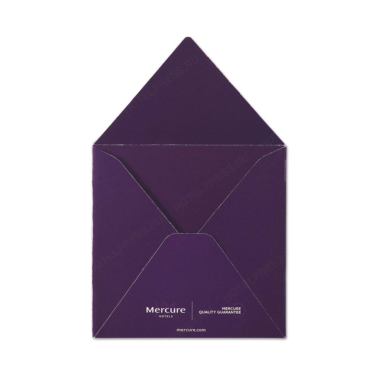 Квадратный конверт 130х130 мм с печатью внутри и снаружи