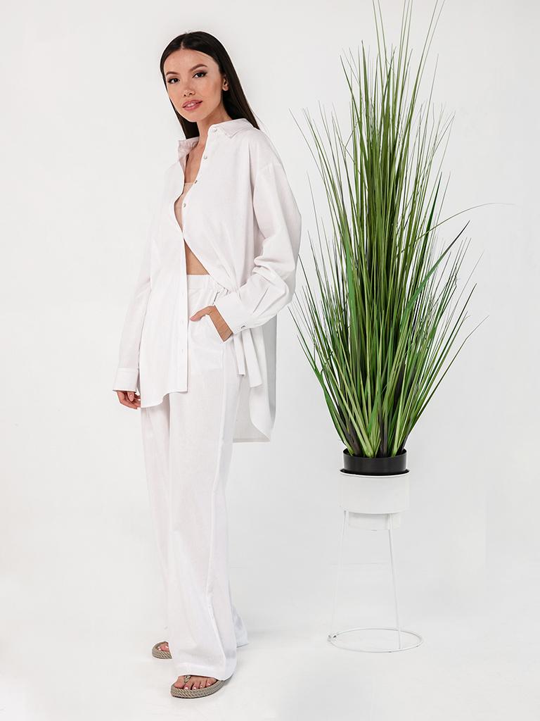Льняной костюм белый YOS от украинского бренда Your Own Style