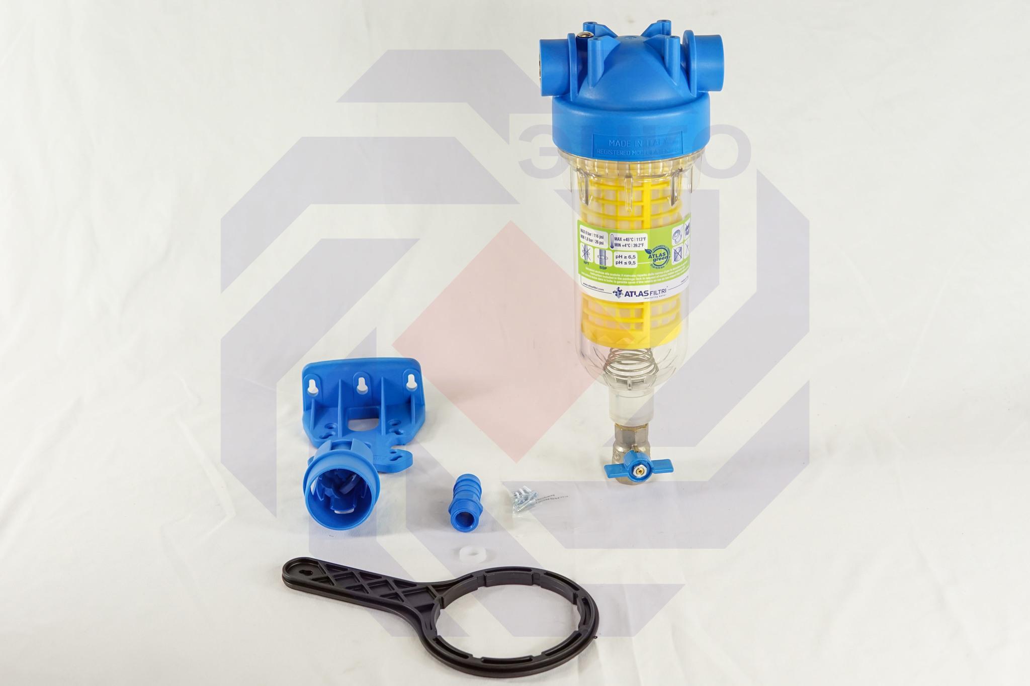 Фильтр для механической очистки самопромывающийся ATLAS HYDRA RLH 90 микрон ½