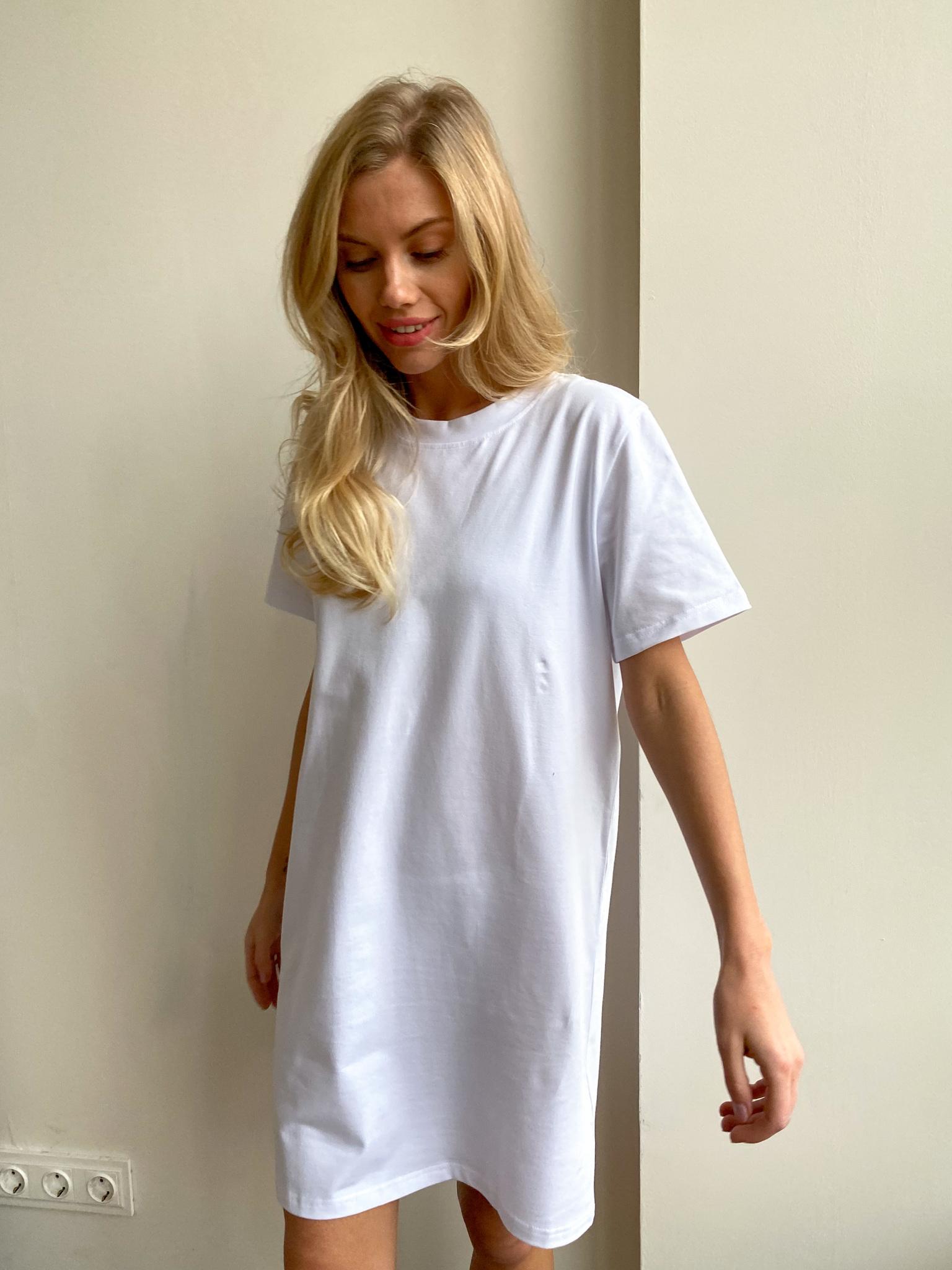 Платье-футболка (белый)