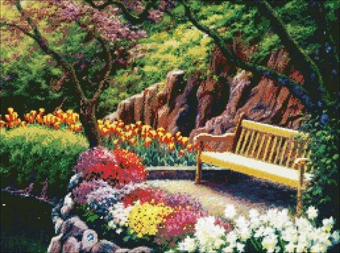 52413 Отдых среди цветов