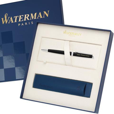 Шариковая ручка Waterman Hemisphere, цвет: MattBlack CT, стержень: Mblue123