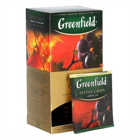 Чай GREENFIELD Травяной Festive Grape 25*1,5 гр п/пак РОССИЯ