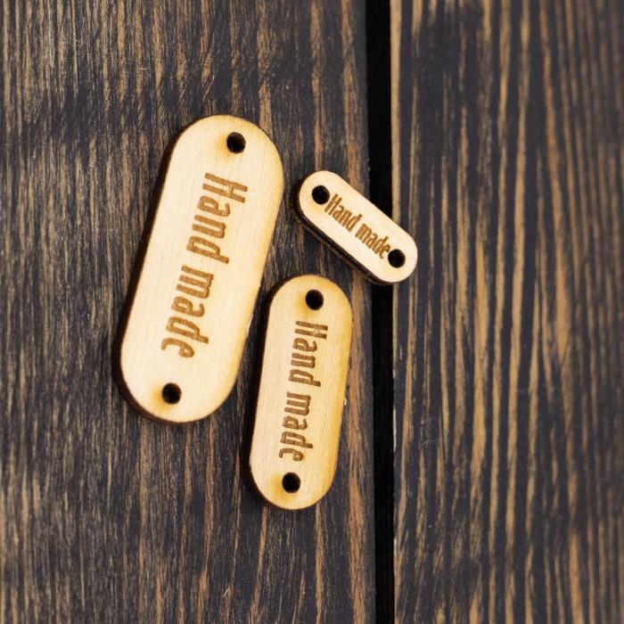 """Вспомогательная фурнитура Набор из 3 овальных бирок """"Hand made"""" фанера IMG_9069.jpg"""