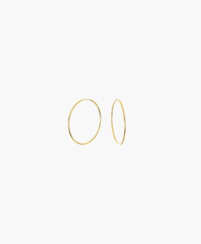 Серьги-кольца Hoops Endless gold 10 мм