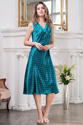 Длинная женская сорочка Mia-Mella CLEVER КЛЕВЕР 8948 изумруд