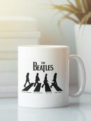 Кружка с изображением Битлз (The Beatles) белая 007