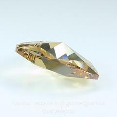 6228 Подвеска Сваровски Сердечко Crystal Golden Shadow (10,3х10 мм)