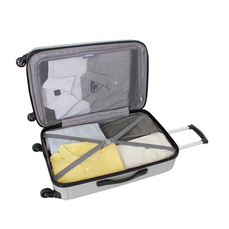 Чемодан WENGER USTER, цвет серебристый 41x26x58 см, 62 л. (WGR6297404167).