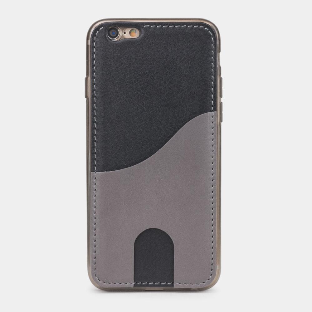 Чехол-накладка Andre для iPhone 6/6s Plus из натуральной кожи теленка, черного цвета