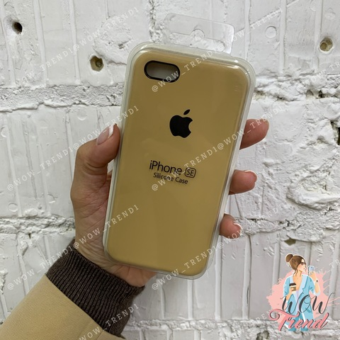 Чехол iPhone 6+/6s+ Silicone Case /gold/ золотой 1:1