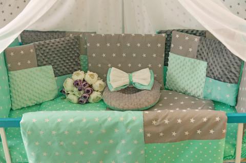 Комплект постельного белья Eco 3 Minky Серо-мятный