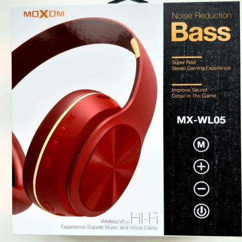 Наушники Bluetooth Moxom MX-WL05, BT 5.0, microSD, red