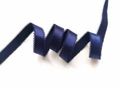 _Бретелечная резинка, с фестонами, 15мм, темно-синий, (Арт: BR642/15-061), м
