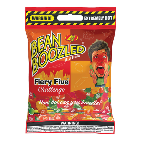 Jelly Belly Bean Boozled Flaming Five Джелли Белли Бин Бузлд острые вкусы 54 гр