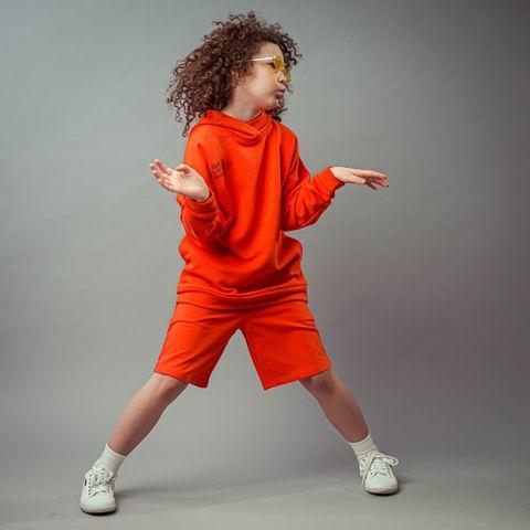 Bb team bermuda shorts for teens - Coral