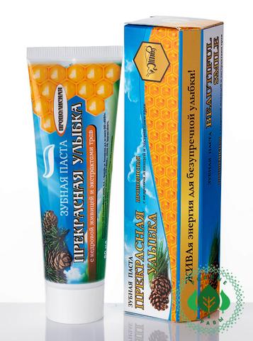 Зубная паста с прополисом,живицей и экстрактами растений