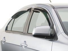 Дефлекторы окон для Chevrolet Lacetti Хетчбек 2004-2013 breeze, темные, 4 части (BRLACETTIHSW)