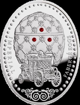 1 доллар. Коронация. Коронационное яйцо  - Императорские яйца Фаберже. Ниуэ. 2012 г.
