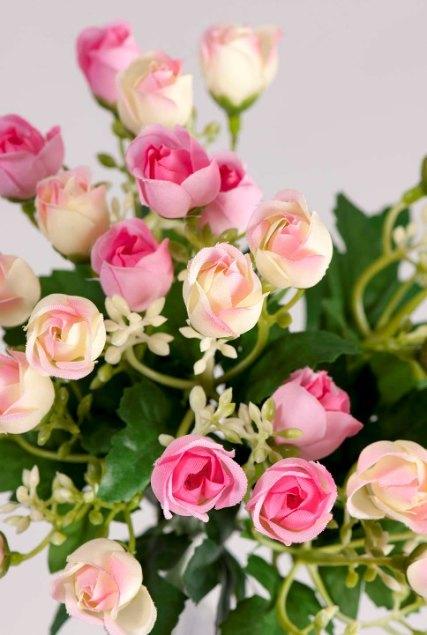 Букет мини-розочек розовый