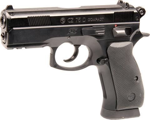 Пистолет пневматический ASG CZ-75D Compact пластик/черный (артикул 16086)