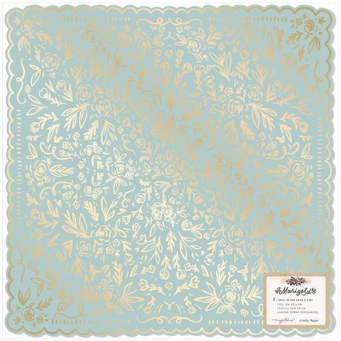 Кардсток с фольгированием 30х30см Maggie Holmes Marigold by Crate Paper -So Sweet W/Foil Accents -1л