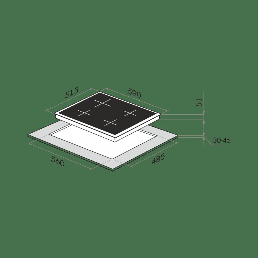 Газовая варочная панель Maunfeld EGHG.64.1CBGI\G