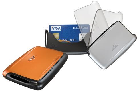 Визитница c защитой Tru Virtu  (20.10.1.0001.15) Pearl оранжевый  104x67x17 мм