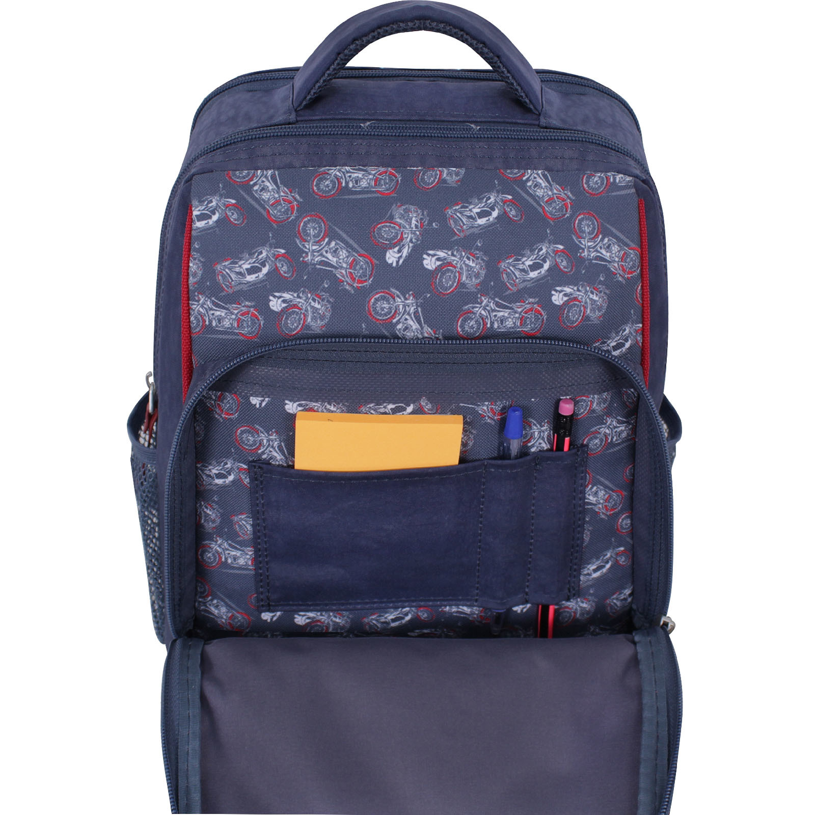 Рюкзак школьный Bagland Школьник 8 л. серый 900 (0012870)