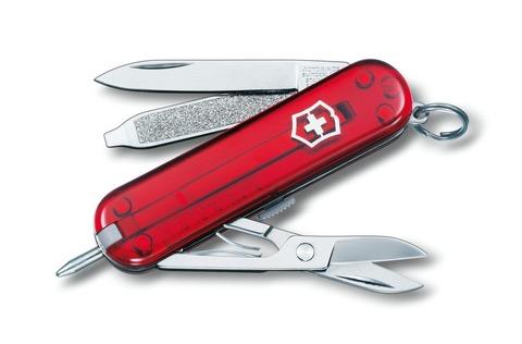 Нож-брелок Victorinox Signature (0.6225.T) с шариковой ручкой, 7 функций, 58 мм. в сложенном виде | Wenger-Victorinox.Ru