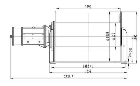 Компактная электрическая лебедка IDJ356-150-600-28