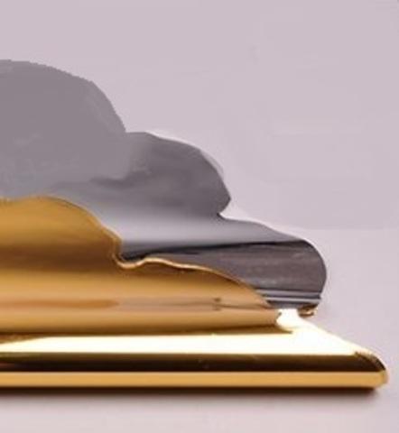 Салфетка металл круглая (d=60 см, упак.=50 шт.) Цвет:золотой