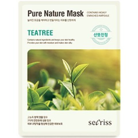АН Secriss Маска для лица тканевая Secriss Pure Nature Mask Pack-Teatree 25мл (10702070/151019/02126
