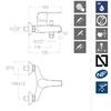 Смеситель для ванны с изливом и душевым комплектом YPSILON PLUS 6405T3 - фото №2