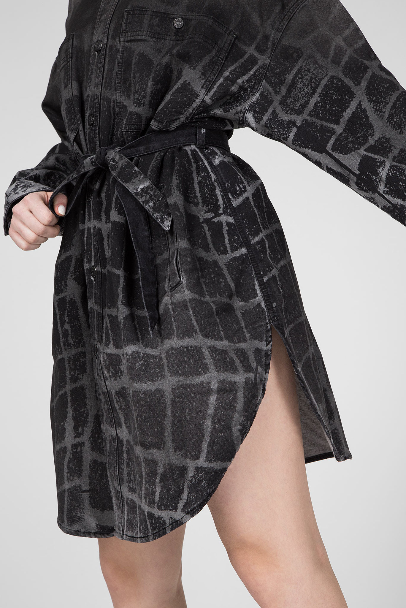 Женское серое платье-рубашка D-PINKIES-SP-NE Diesel