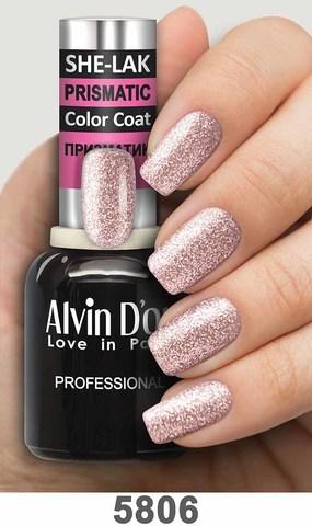 Alvin D`or Лак для ногтей SHE-LAK PRISMATIC  тон 5806 -8мл