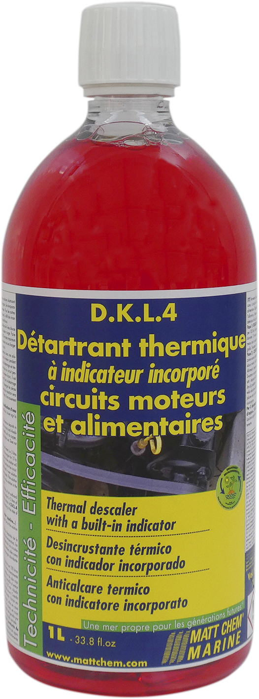 Thermal non corrosive descaler with built-in indicator D.K.L.4