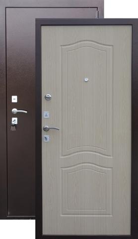 Дверь входная Сибирский стандарт Гарда 1512, 2 замка, 1,5 мм  металл, (медь антик+беленый дуб)