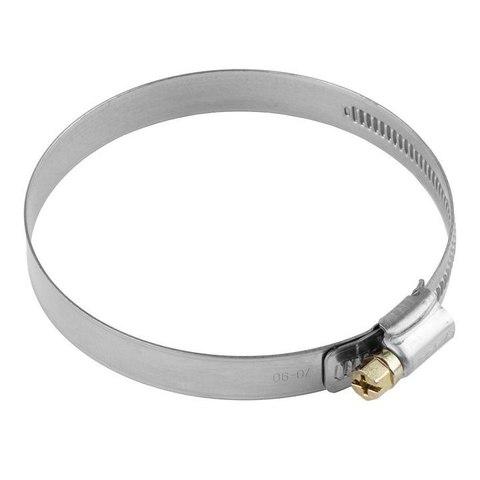 Хомуты, нерж. сталь, накатная лента 12 мм, 70-90 мм, 50 шт, ЗУБР Профессионал