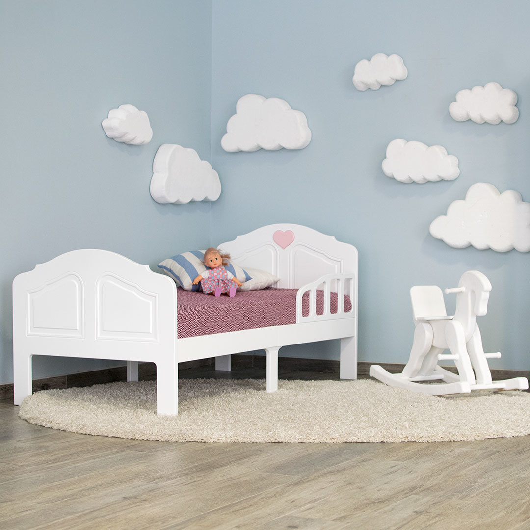 Кровать подростковая Феалта-baby Мотив, белая
