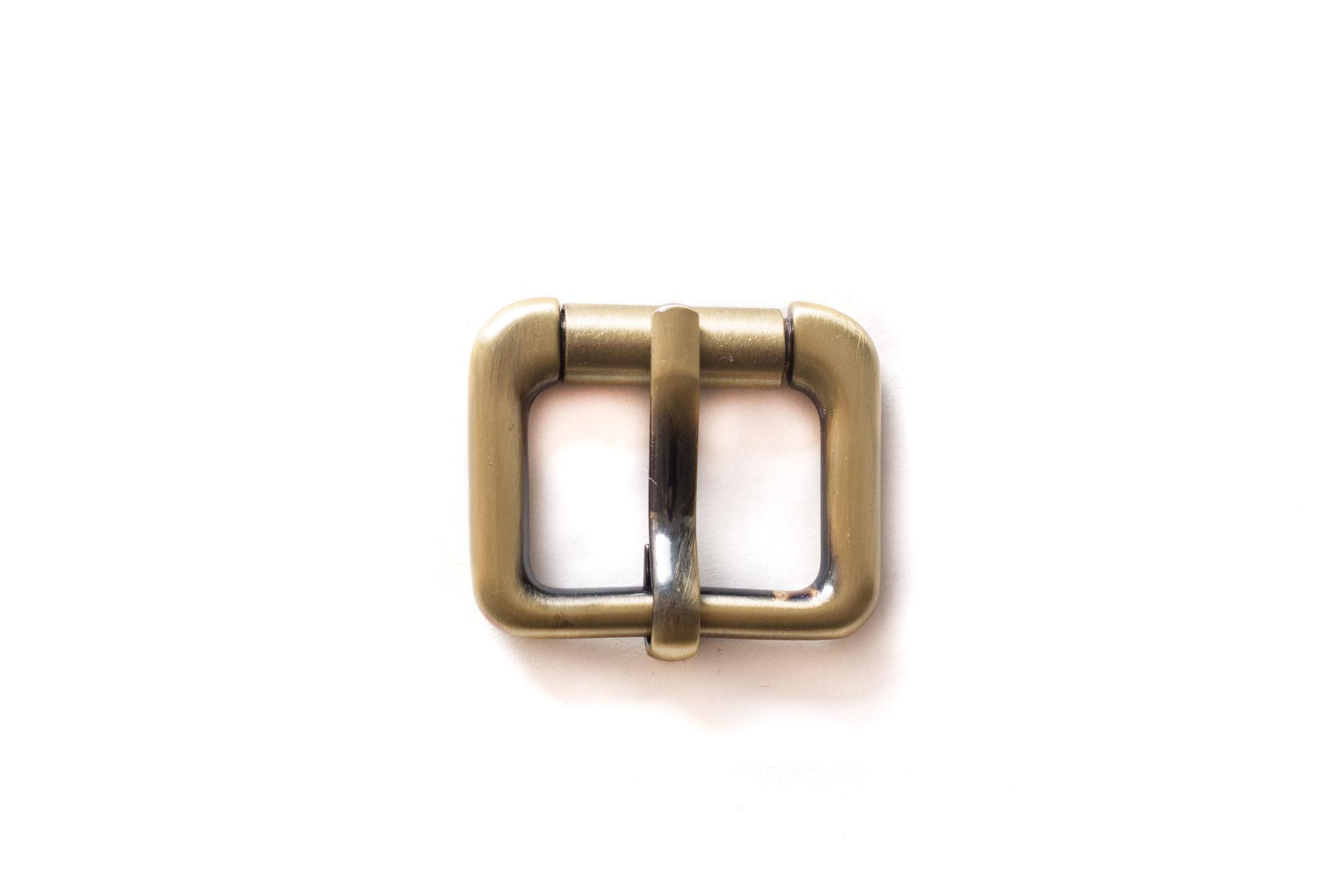 Пряжка с роликом 25 мм, латунь