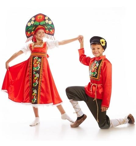 Русский народный костюм Хохлома девочка 3