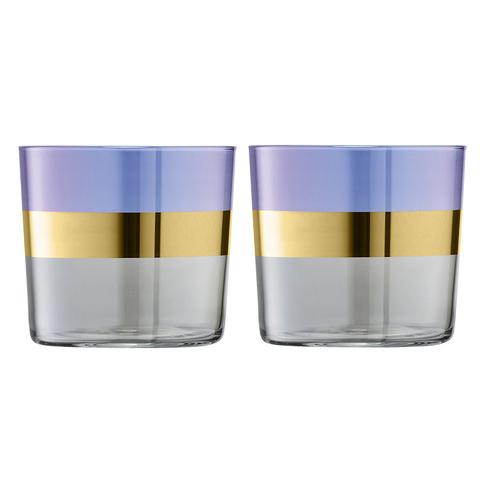 Набор из 2 стаканов Bangle, 310 мл, фиолетовый